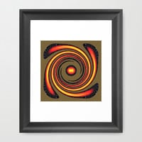 Spiral Fire in abstract Framed Art Print by Robert Gipson