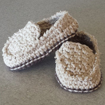 Crochet Baby Boy Or Girl Casual Loafers Boat Shoes Free Baby