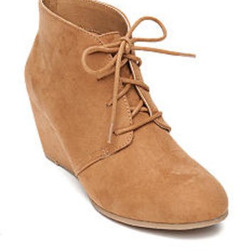New Directions® Camden Laceup Wedge Bootie
