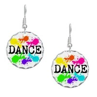 Dance Paint Earring Circle Charm