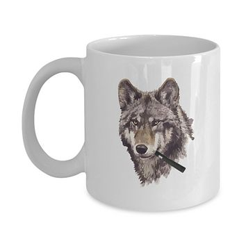 Wolf Vape Pen Smoking Pretty Coffee Mug