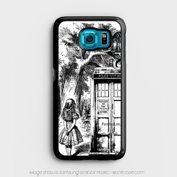 alice in tardis dr Who Samsung Galaxy S6 Case, Samsung Cases