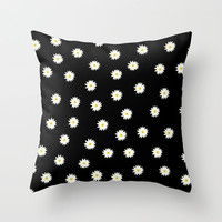 Flowers Throw Pillow by Jamie Danielle