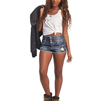 Fray Hem High Waist Shorts | Wet Seal