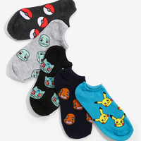 Pokémon Allover Print No-Show Socks 5 Pair