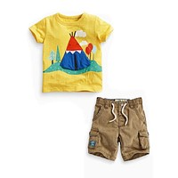 TZ429 Baby Boy Clothing Casual T-Shirt + shorts 2 pcs boy Clothes Summer Children clothing Suit for Boys Toddlers Boys suit