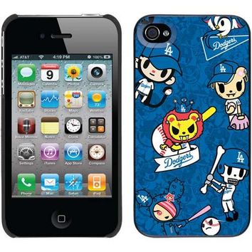 Coveroo MLB Los Angeles Dodgers Tokidoki Design iPhone 4 4s Thinshield Snap Case