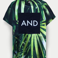 ANDCLOTHING — Tropical Palm AND Tee