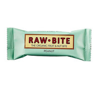 Rawbite Peanut (50g) The simple, raw and honest snack - organic, gluten free, dairy free and containing only natural sugar from fruit