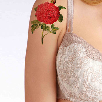 Vintage Rose temporary tattoo, Fashion Tattoo,Fake Tattoo,Tattoo Design