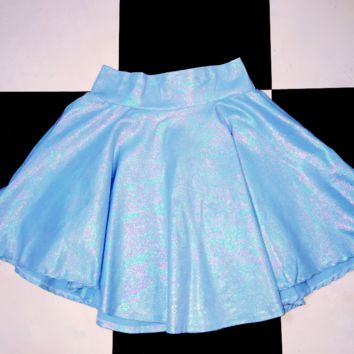 SWEET LORD O'MIGHTY! MILKMAID SKIRT IN SHIMMERY BLUE
