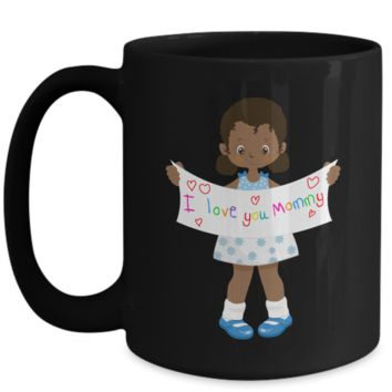 Cutie Pie Tees African American Coffee Mug to Mommy I Love You Mommy