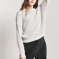 Drop-Sleeve Crew Sweater