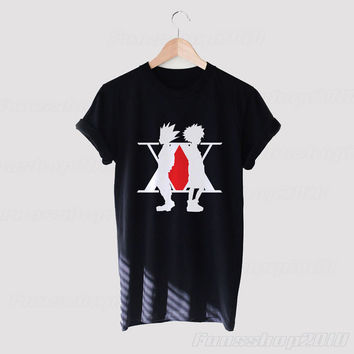 Gon Killua Hunter X Hunter Logo License Black White Unisex T Shirt