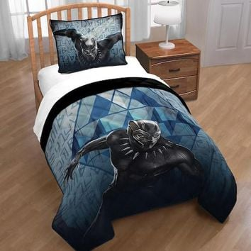 Kids Marvel Black Panther Complete Quilt Bedding Set
