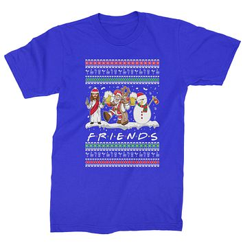 Friends Christmas Drinking Party Ugly Christmas Mens T-shirt