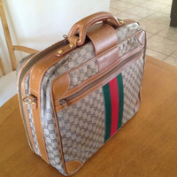 Beautiful authentic Gucci carry on luggage Free shipping