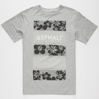 Ayc Hibiscus Black Print Mens T-Shirt Heather  In Sizes