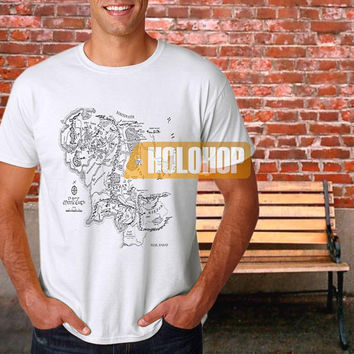 Middle Earth Map The Lord T-shirt by HOLOHOP