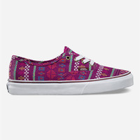 Vans Guate Stripe Authentic Womens Shoes Purple  In Sizes