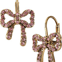 CRYSTAL BOW DROP EARRING