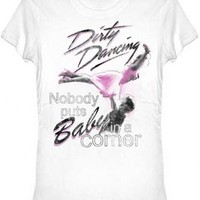 Dirty Dancing Nobody Puts Baby in the Corner White Vintage Juniors/Ladies T-shirt - Dirty Dancing - | TV Store Online