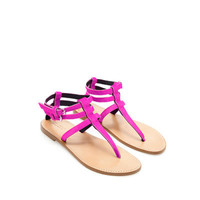LEATHER THONG SANDALS - Shoes - Woman | ZARA United States