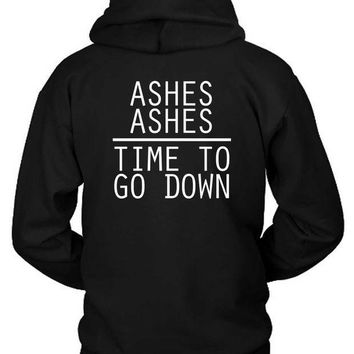 ESBP7V Melanie Martinez Quote Ashes Ashes Time To Go Down Hoodie Two Sided