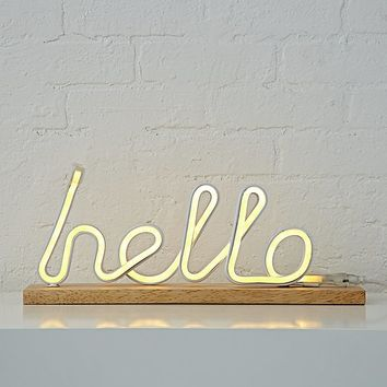 Hello Light Up Sign