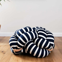 (M) Blue&White Knot Floor Cushion