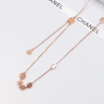 8DESS Chanel Women Fashion Necklace Jewelry
