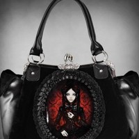 Restyle Red Doll Cameo Handbag