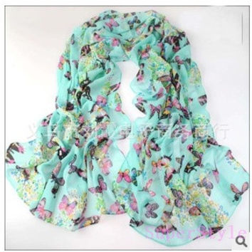 new fashion style butterfly Scarves women's scarf long shawl spring silk pashmina chiffon infinity scarf = 1946243780