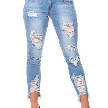 V.I.P. JEANS Women's 2-170368BL-11, Light Blue, 11