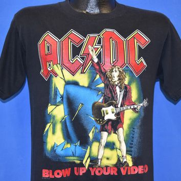 80s AC/DC Blow Up Your Video World Tour t-shirt Medium
