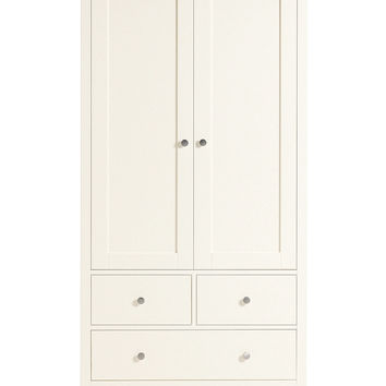 Hastings Ivory Double Wardrobe | M&S