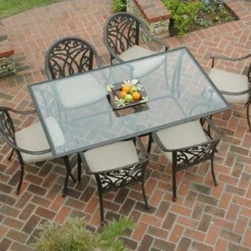 Outdoor Patio Montecito 7 Pc. Outdoor Dining Set : Target
