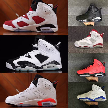 Air retro 6 6s men Basketball shoes Alternate Hare Carmine White Infrared Black Cat sports blue Maroon Oreo Angry bull Chrome sports sneaker