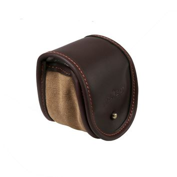 Tourbon Canvas Fishing Storage Reel Case Holder Classic Design Fly Fishing Game Pouch