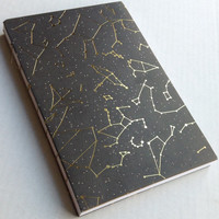 Constellations and stars Gold and black space galaxy journal with 80 blank pages 5.5X8.5
