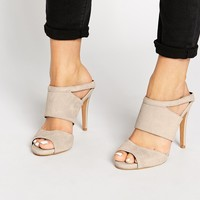 ALDO Ama Nude Leather Mule Heeled Sandals