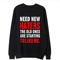 Kpop bangtan boys concert jung kook same hoodies funny need new haters the old ones are starting to like me sweatshirt S-2XL