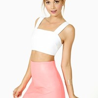 Nasty Gal Spell Cast Crop Tank - White