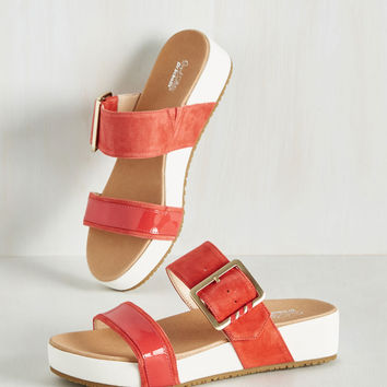 On My Buckle List Sandal in Paprika | Mod Retro Vintage Sandals | ModCloth.com