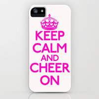 Keep Calm and Cheer iPhone Case by productoslocos | Society6