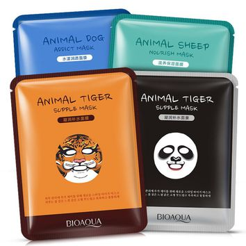 BIOAQUA Animal Moisturizing Face Mask - (Sheep/Panda/Dog/Tiger)