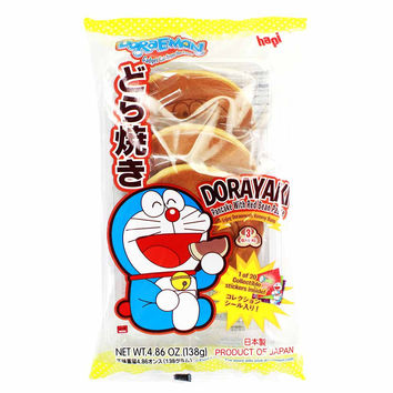 Hapi Doraemon Dorayaki Pancake with Red Bean Paste, 4.8 oz (138 g)