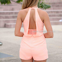 CHLOE PLAYSUIT , DRESSES, TOPS, BOTTOMS, JACKETS & JUMPERS, ACCESSORIES, 50% OFF SALE, PRE ORDER, NEW ARRIVALS, PLAYSUIT, COLOUR, GIFT VOUCHER,,Orange,JUMPSUIT,SLEEVELESS Australia, Queensland, Brisbane