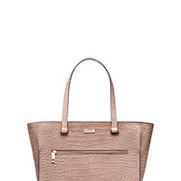 Kate spade Parliament Square Large Exotic Brantley tote Rosey Beige