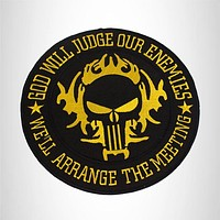 GOD WILL JUDGE OUR ENEMIES Iron on Center Patch for Biker Vest CP215